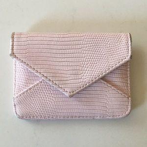 Accessories - Pink Croc Print card holder